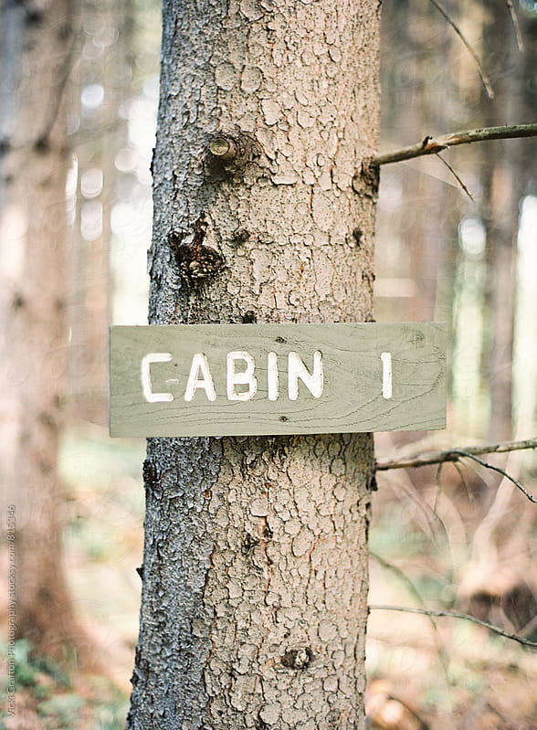 Cabin sign by Vicki Grafton Photography for Stocksy United