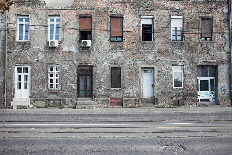 Facade of the old building by Marko Milovanović for Stocksy United