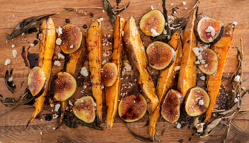 Sweet Potato Wedges with Figs by Jeff Wasserman for Stocksy United
