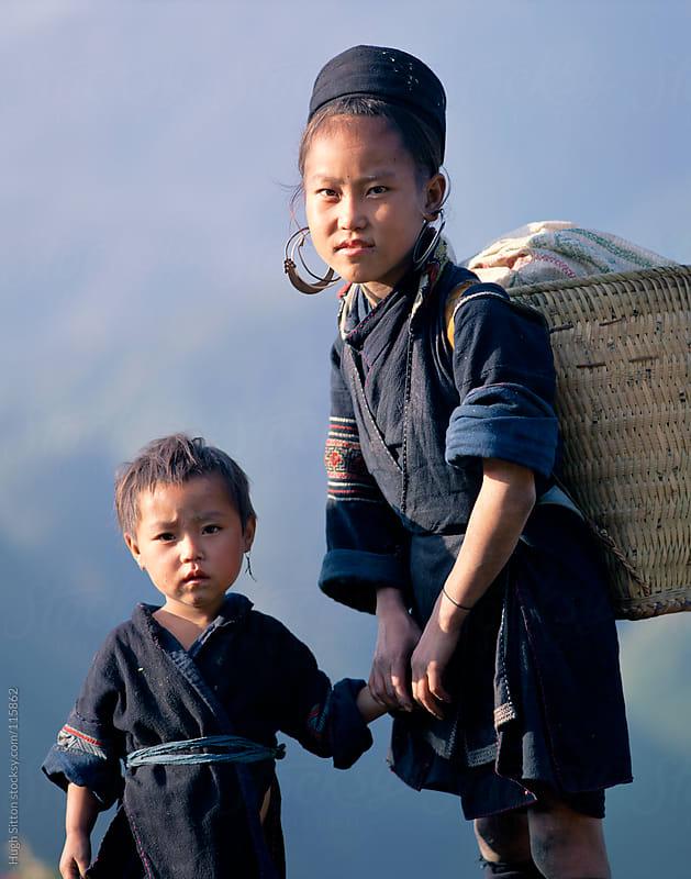 Hmong children. SaPa. Vietnam by Hugh Sitton for Stocksy United