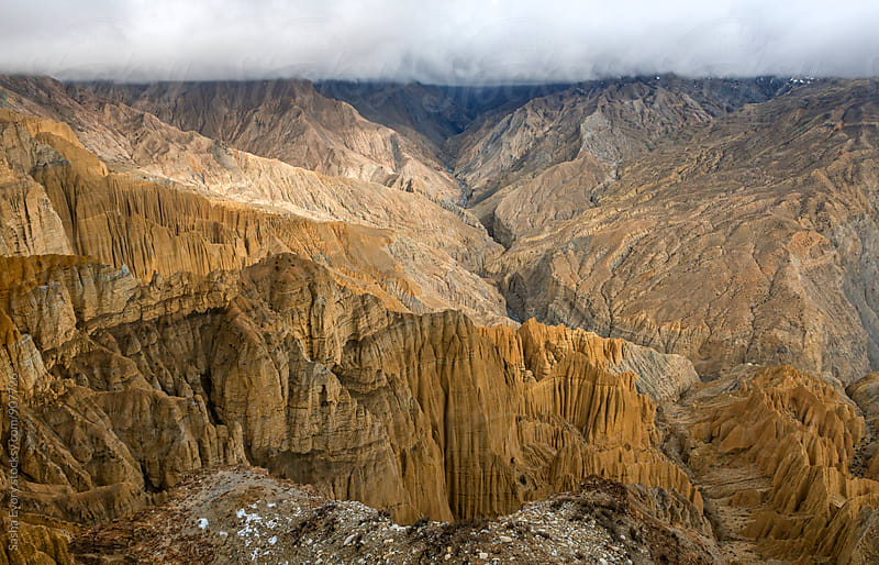 Earth formations in Himalayas by Sasha Evory for Stocksy United