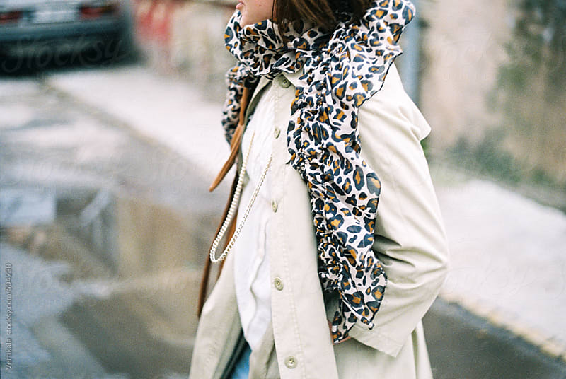 Fashionable woman on the street during autumn time  by VeaVea for Stocksy United
