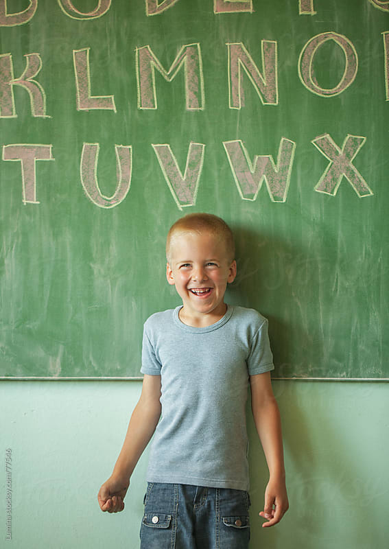 Cheerful Caucasian Schoolboy by Lumina for Stocksy United