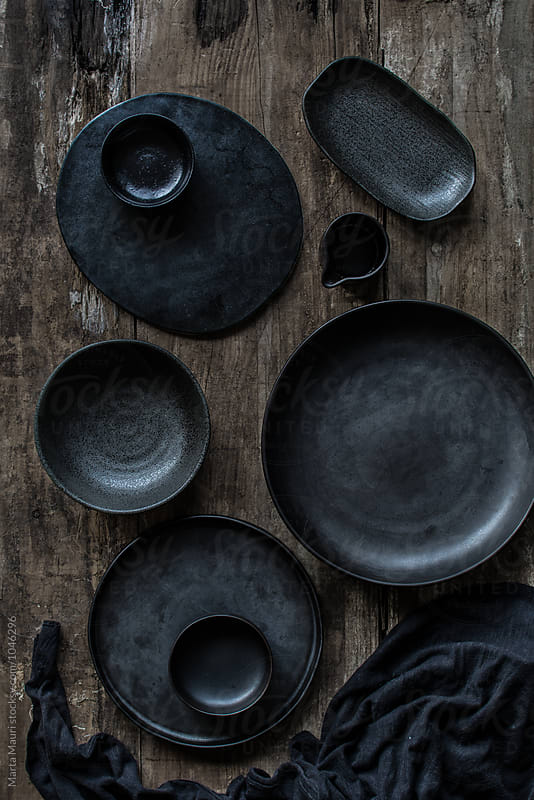 Black crockery by KEMA Food Culture for Stocksy United