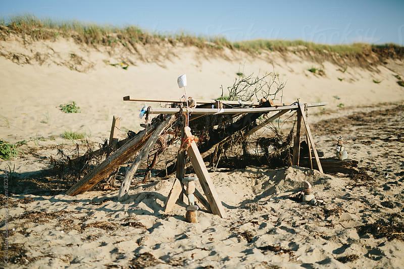 Fort on beach by Christian Gideon for Stocksy United