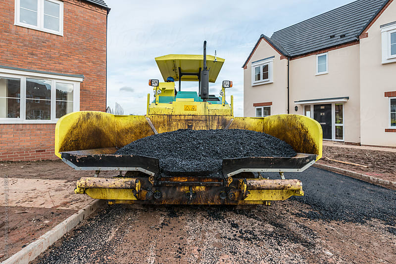 Road surfacing by Craig Holmes for Stocksy United