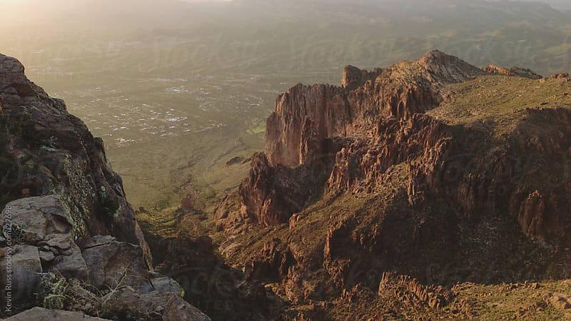 Sunset Mountain Desert by Kevin Russ for Stocksy United
