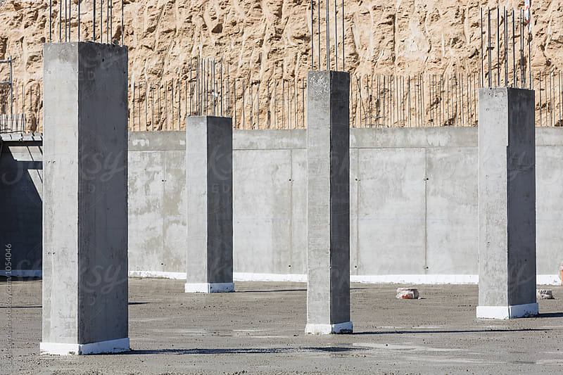 Concrete pillars by Luis Cerdeira for Stocksy United