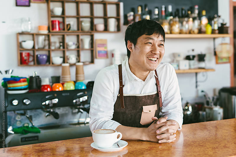 Portrait of young coffee owner by MaaHoo Studio for Stocksy United