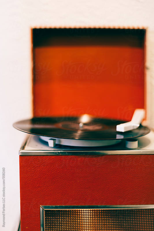 Vintage Toy Record Player  by Raymond Forbes LLC for Stocksy United