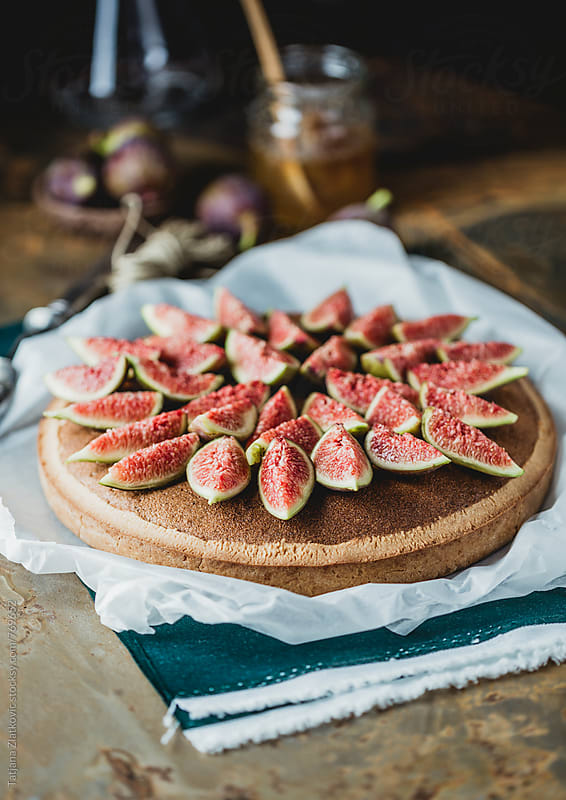 Fig tart by Tatjana Zlatkovic for Stocksy United