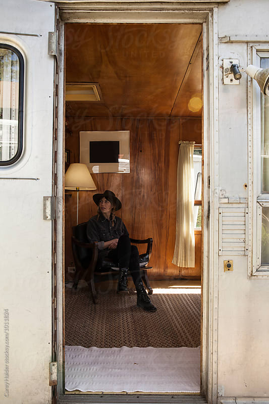 Woman In A Trailer House by Carey Haider for Stocksy United