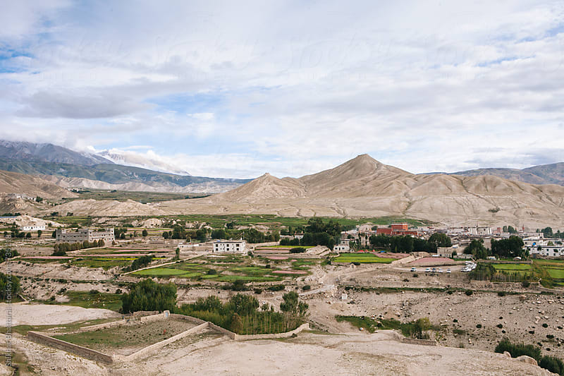 The village of Lo Manthang in Upper Mustang. by Shikhar Bhattarai for Stocksy United