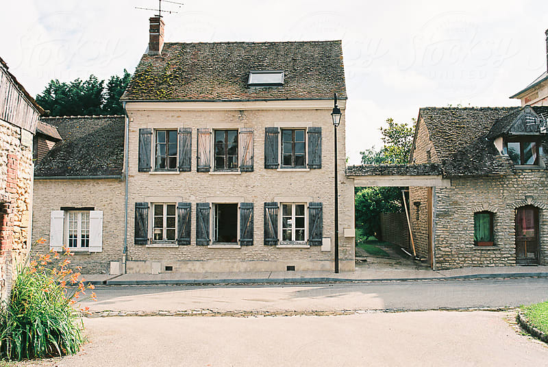 house in village in Normandy, France by Léa Jones for Stocksy United