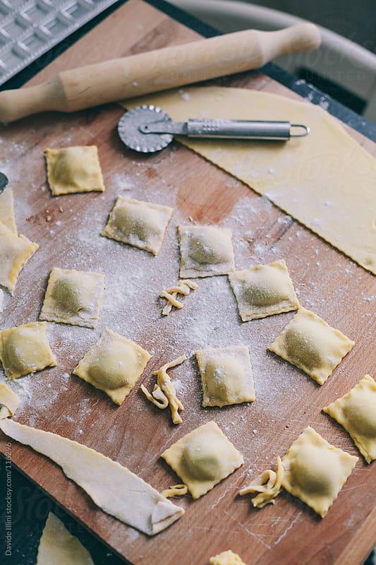 Making Italian Ravioli by Davide Illini for Stocksy United