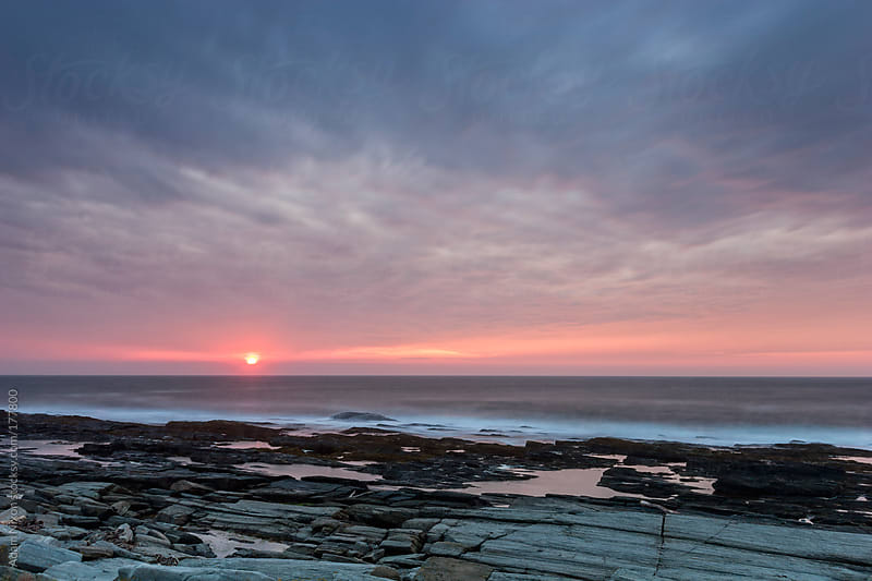 Sunrise on the Maine Coastline by Adam Nixon for Stocksy United