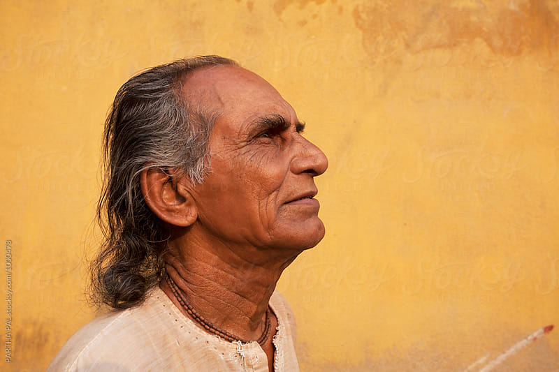 Indian old man by Dream Lover for Stocksy United