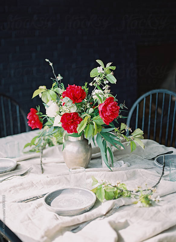 Rural table setting by Julia K for Stocksy United