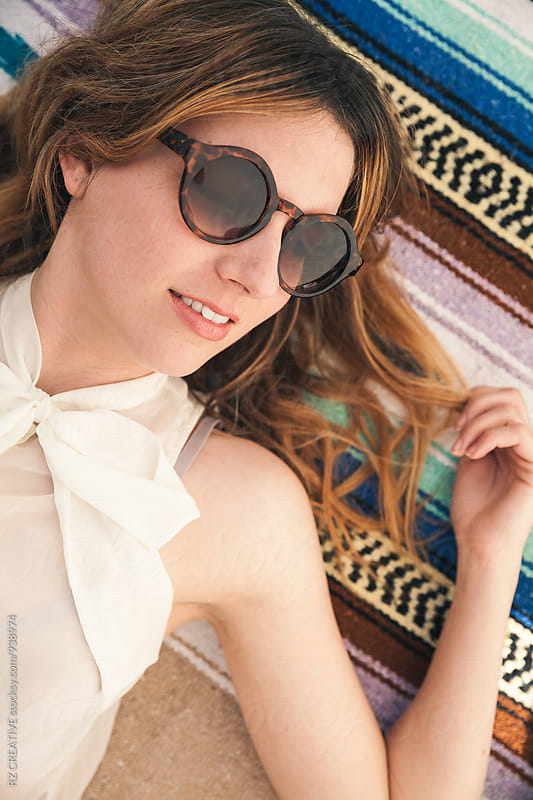 Stylish woman with sunglasses.  by RZ CREATIVE for Stocksy United
