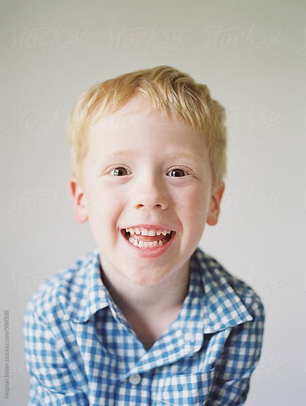 Cute little boy portraits by Meghan Boyer for Stocksy United