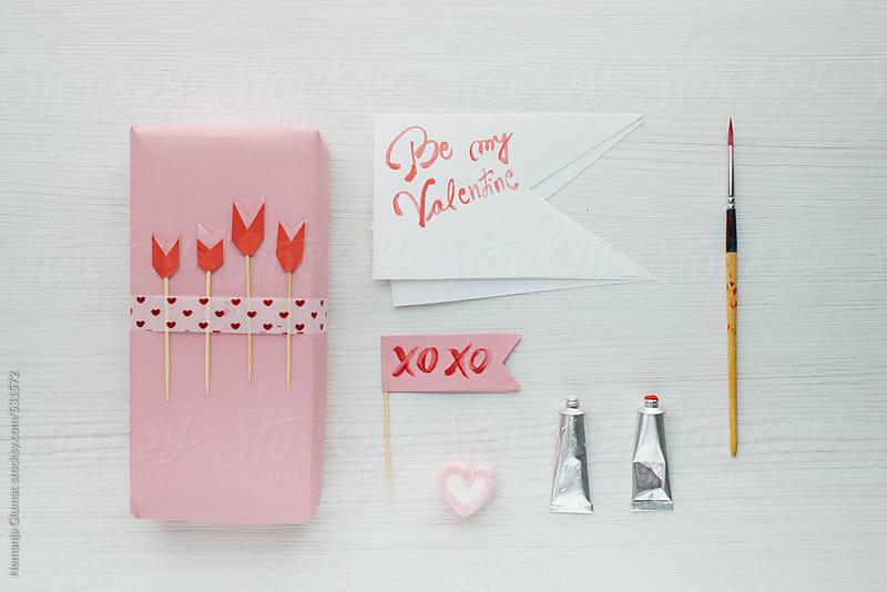 Romantic Pink Vlanetine's Day Decoration by Nemanja Glumac for Stocksy United
