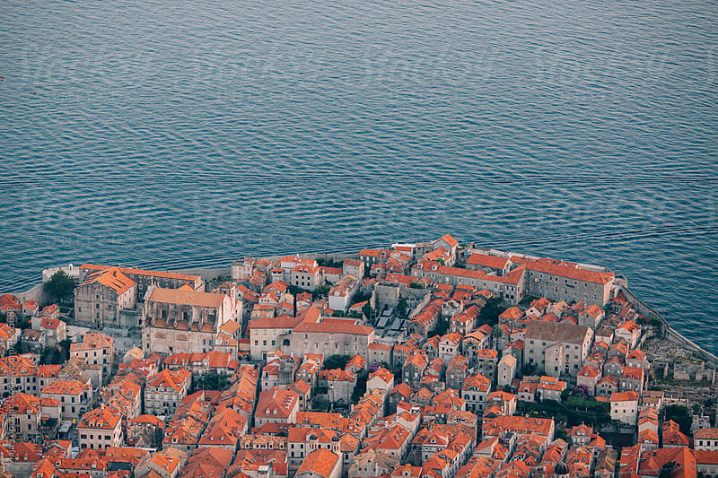 Rooftops from above in Dubrovnik by Maja Topcagic for Stocksy United