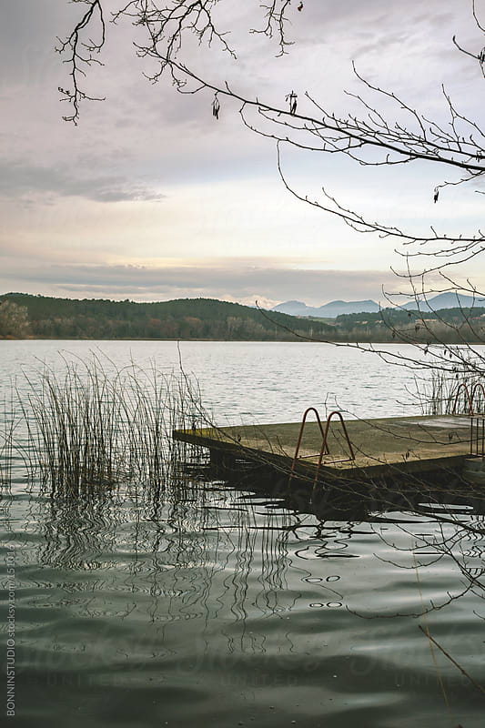 Bathing area at Banyoles Lake, Spain by BONNINSTUDIO for Stocksy United