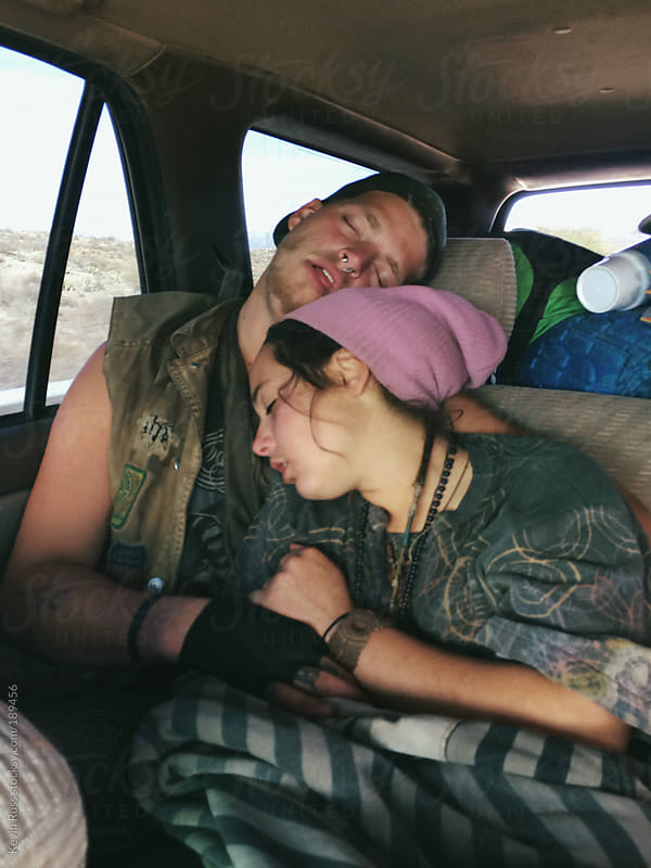 People Sleeping on Car Ride by Kevin Russ for Stocksy United