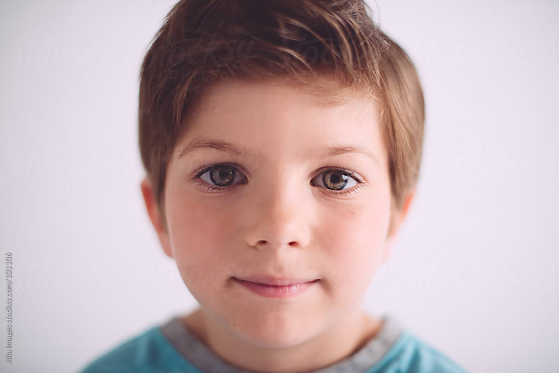 Portrait of Cute kid by Aila Images for Stocksy United