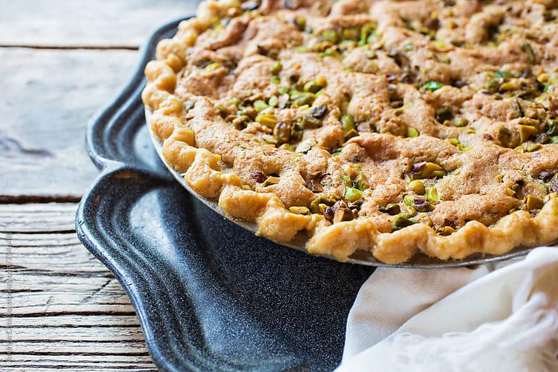 Pistachio Pie  by Andrew Cebulka for Stocksy United