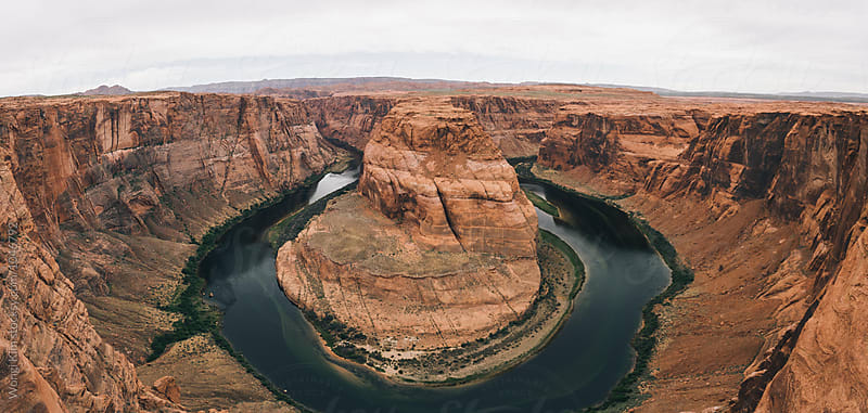 Horseshoe Bend Panorama by Wongi Kim for Stocksy United