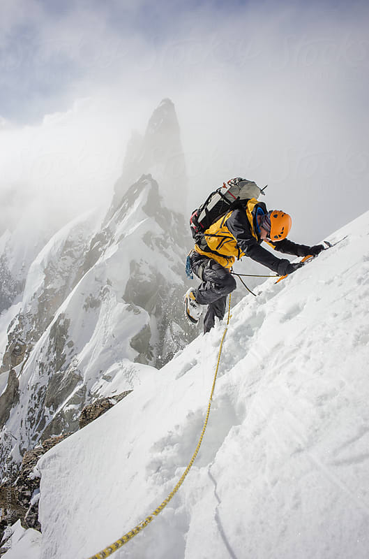 winter mountaineering by RG&B Images for Stocksy United