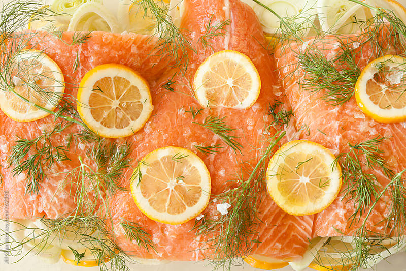 Salmon with Lemon and Fennel by Jill Chen for Stocksy United