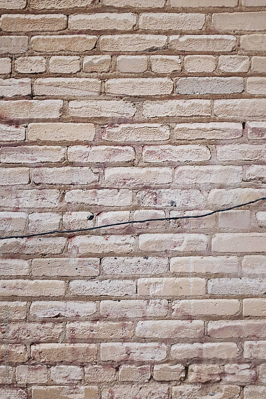 Brick, stone and concrete texture background pattern by Greg Schmigel for Stocksy United