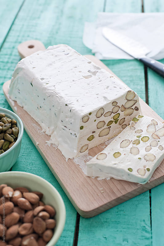 Food: Homemade Torrone with Almonds, Pistachio and Honey by Ina Peters for Stocksy United