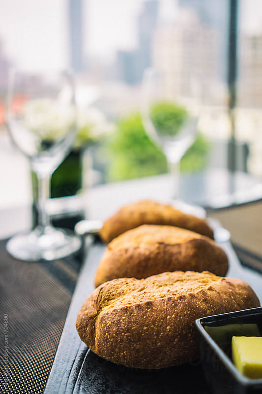 bread and drink by Miss Rein for Stocksy United