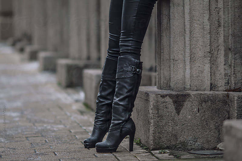legs portrait, modern girl on the street by Igor Madjinca for Stocksy United