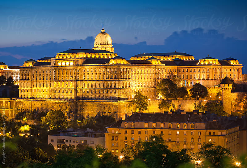 Golden light on Castle of Buda. by Gergely Kishonthy for Stocksy United