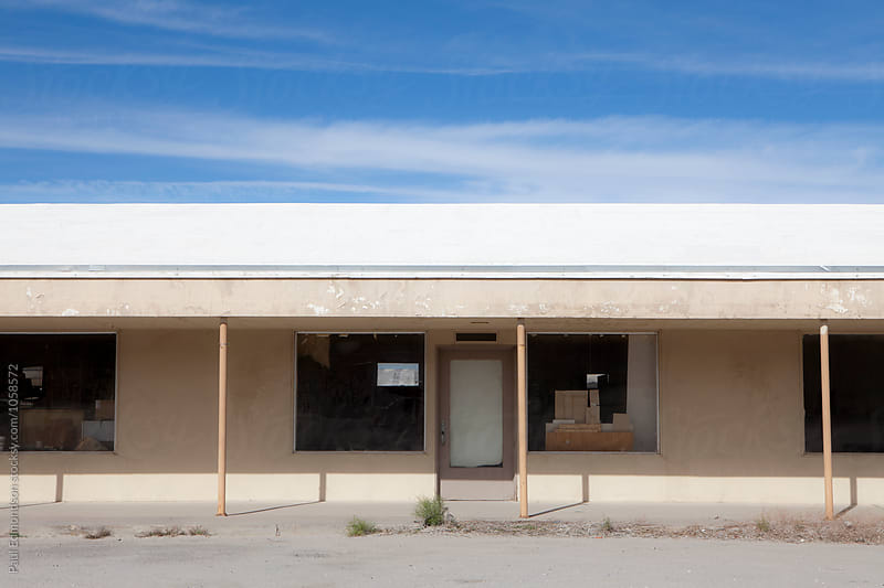Abandoned hotel in Mojave Desert, near Surprise Valley, CA, USA by Paul Edmondson for Stocksy United