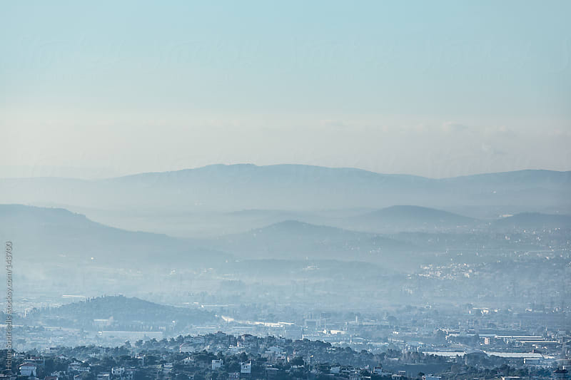 Eastern Athens as seen From  Pendeli by Helen Sotiriadis for Stocksy United
