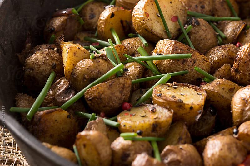Grilled Mini Potatoes by Jeff Wasserman for Stocksy United