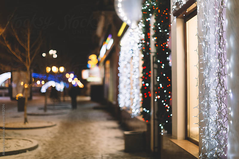 Christmas lights. by Alexey Kuzma for Stocksy United