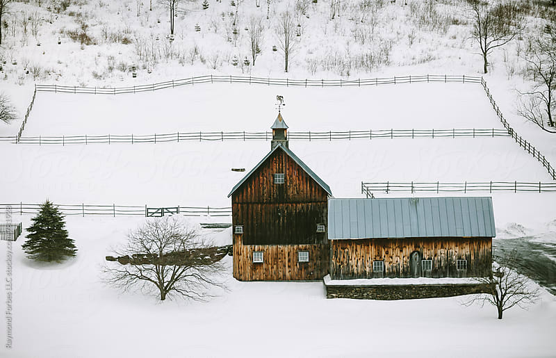 Winter Landscape Vermont, USA by Raymond Forbes LLC for Stocksy United