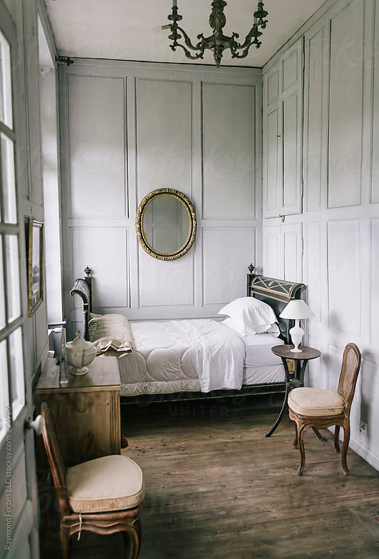 Bedroom in Private Chateau by Raymond Forbes LLC for Stocksy United