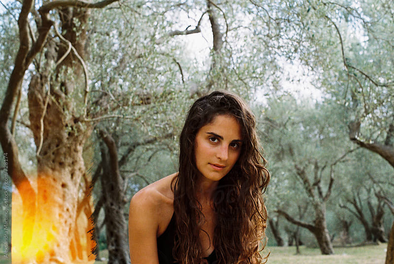 A girl in olives by Aleksandra Martinovic for Stocksy United