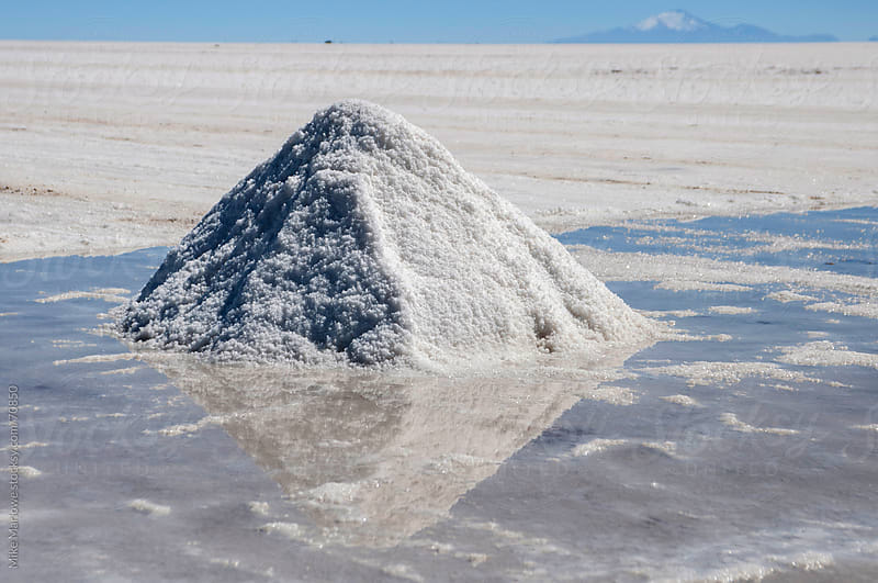 Shot of a salt pile in Bolivia. by Mike Marlowe for Stocksy United