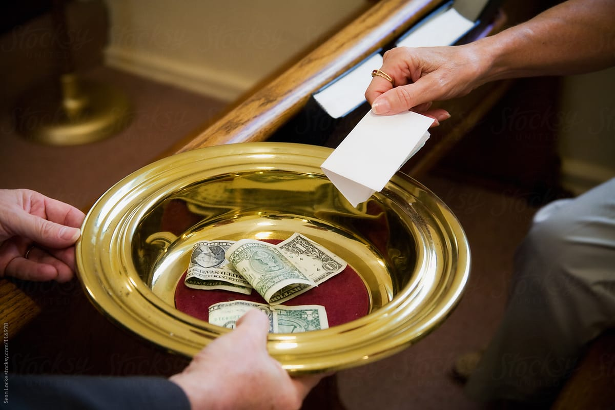 Church: Passing The Collection Plate At Church   Stocksy ...