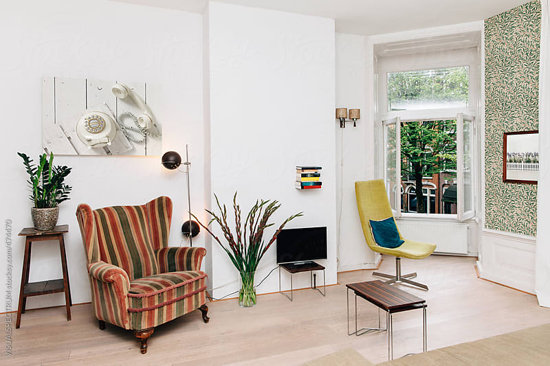 Retro Living Room by Julien L. Balmer for Stocksy United