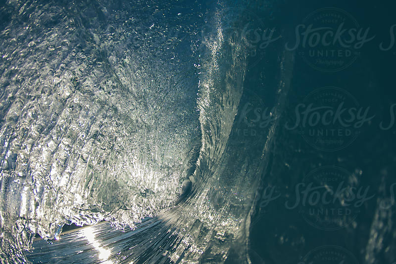 Water shot of a breaking wave at sunrise. by RZ CREATIVE for Stocksy United