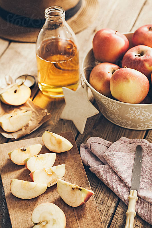 Apples and Apple Juice by Lumina for Stocksy United